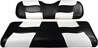 Madjax Riptide 2001-Up Black/White Two-Tone Front Seat Covers for Club Car DS Golf Carts