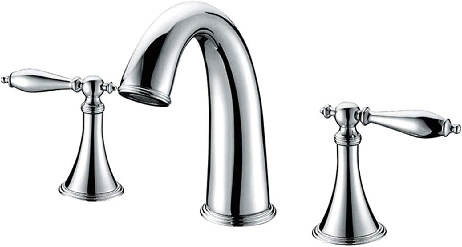 Lavatory Faucet,Bathroom Stainless Steel Basin Vanity Bathroom Faucet,Deck Mounted Bathroom Basin Mixers Brass Taps