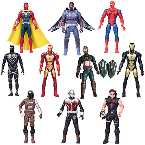 Superhero Adventures Ultimate Super Hero Set, 10 Collectible 6.7-Inch Action Figures, Holiday Toy Gifts for Kids