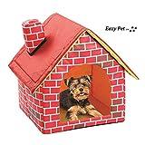 Miniture Poodle Casa de Perro Cama de Felpa Plegable de Viaje cómodo Compacto Plegable Suave Cama para Perros pequeños Gatos y Conejos