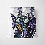 YZDM – Juego de cama Transformers, 2/3 piezas, 3D, estampado de microfibra suave con funda de edredón y funda de almohada, para adultos y adolescentes (A,135 x 200 cm)