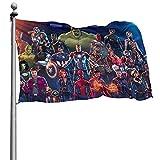 Avenger Hulk Iron Man Groot Flagge, verschleißfest, dekorative Flagge mit exquisiten Druckmustern, geeignet für die Dekoration von Innenräumen, Gärten und Hof 4 x 6 FT