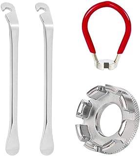 Thlevel 4 st cykeldäck spak cykel eksnyckel kit smidd stål cykel fälg nippel skiftnyckel nyckel nyckel nyckel nyckel skift...