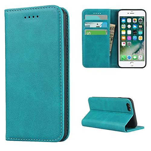 Copmob Cover iPhone 6/6S,Premium Flip Portafoglio Custodia in Pelle,[3 Slots][Supporto Stand][Chiusura Magnetica],Custodia Cover Case per iPhone 6/6S - Cielo Blu