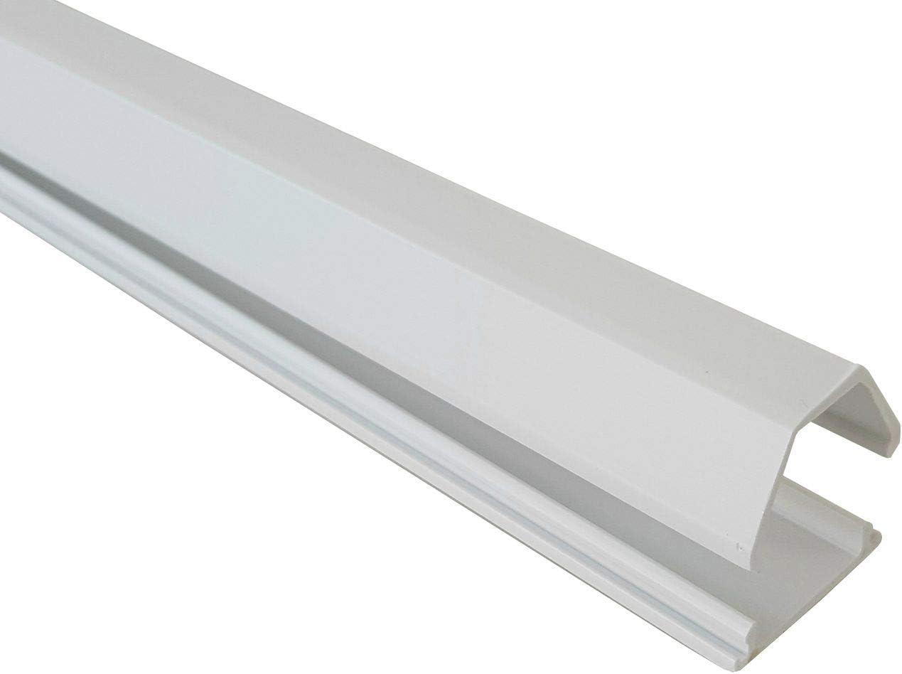 Farbe:Grau Trapezf/örmig, Selbstklebend netproshop Kabelkanal 19x16mm Innenma/ß PVC 1 Meter