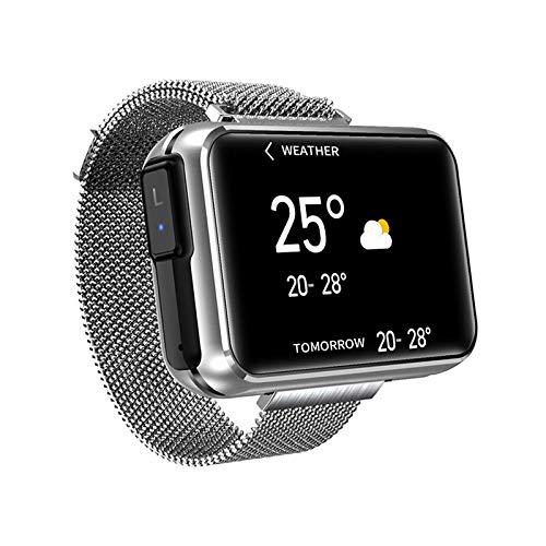 2-in-1-Smartwatch mit TWS Wireless Bluetooth Headset, Smart Armband mit 1,4 Zoll Touchscreen, Smartwatch Herzfrequenz Blutdruck Fitness Tracker Earbuds Combo Running Musik Armband (Silber)