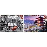 Educa Ámsterdam Puzzle, 3000 Piezas, Multicolor (16018) + Borras Genuine Puzzles, Puzzle 2.000 Piezas, Monte Fuji, Japón (16775)