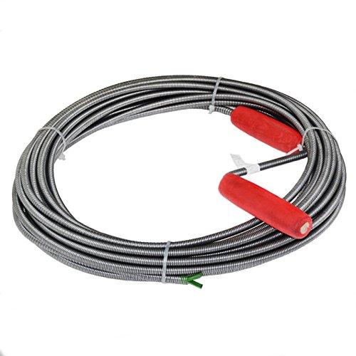 Rohrreinigungsspirale, 9mm x 15m, Abflussspirale, Rohrreinigungswelle, einfache Rohrreinigung