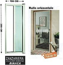 ZANZARIERA A RULLO IN KIT BIANCA MAURER 100x160 cm Chiusura Verticale