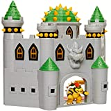 "Nintendo Bowser's Castle Super Mario Deluxe Bowser's Castle Playset with 2.5"" Exclusive Articulated Bowser Action Figure, Interactive Play Set with Authentic in-Game Sounds"