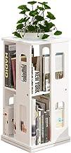 Jcnfa-Shelves Rotating Bookshelf Childrens Storage Bookshelf Easy Access Your Little Reader (Natural) Freestanding Bookcase (Color : White, Size : 13.3813.3827.55in)