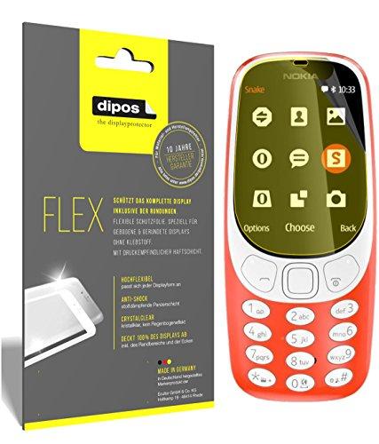 dipos I 3X Schutzfolie 100prozent kompatibel mit Nokia 3310 Folie (Vollständige Bildschirmabdeckung) Bildschirmschutzfolie