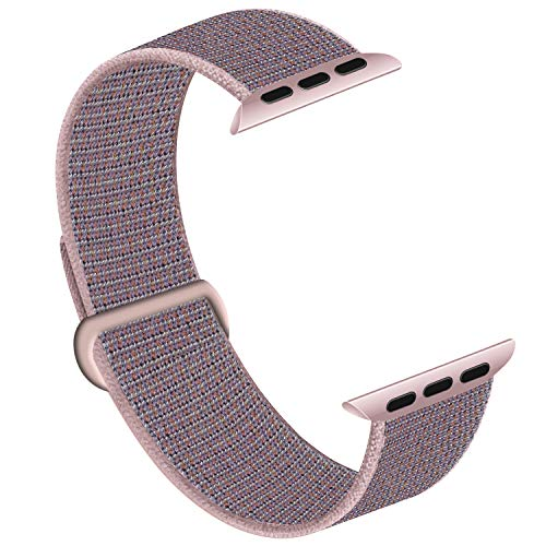 Seizehe Compatible with Apple Watch Band 38mm 40mm, Nylon Soft Sticky Velcro Sport Loop Strap Replacement Sport Band for iWatch Series 5 4 3 2 1