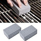 Enticerowts - Set di 2 pezzi, Mattone per la pulizia di griglie, in polvere di vetro, non tossico, per rimuovere macchie e grasso 1
