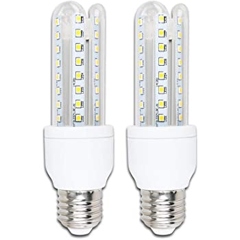 Pack de 2 Bombillas LED B5 T3 3U, 9W, casquillo gordo E27, luz calida 3000K: Amazon.es: Iluminación