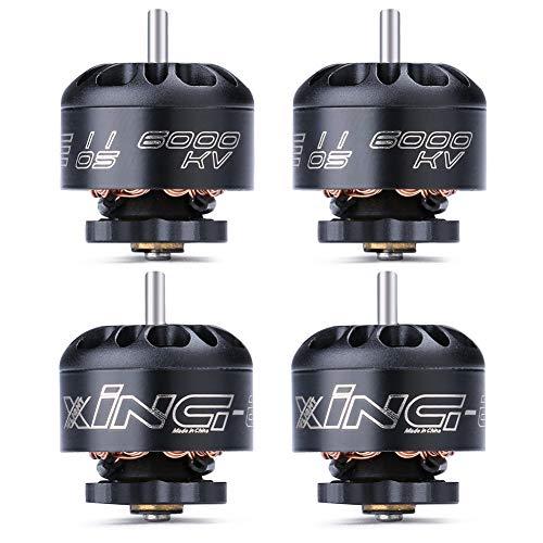 iFlight 4pcs XING-E 1105 6000KV 2-3S Micro Brushless Motor for FPV Racing Drone Frame Micro Quadcopter