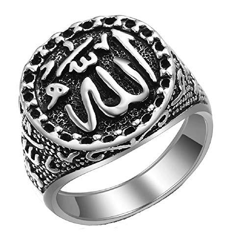 Allah-Ring, arabisch, islamisch, Shahada, religiös, muslimischer Schmuck, Geschenk, Herren, 20 x 25 mm