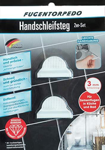 FUGENTORPEDO Handschleifsteg 3mm 2er Set Für Zementfugen in Küche und Bad