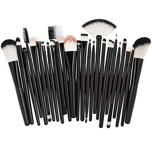 HANHOU Fond De Teint Cosmétique Synthétique Premium Blushing Blush Correcteurs Poudre Kabuki 25 Pcs Kit De Brosse De Maquillage Professionnel,9-OneSize