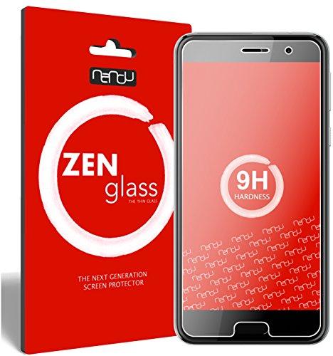 ZenGlass Flexible Glas-Folie kompatibel mit HTC U Play Panzerfolie I Bildschirm-Schutzfolie 9H I (Kleiner Als Das Gewölbte Bildschirm)