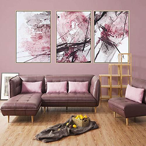 WSNDGWS Nueva Pintura de Lona China, Estilo de Tinta, Pintura de decoración del hogar, sin Marco de Imagen A2 40x60cmx3