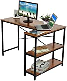 ZYZCJT L-förmiger Schreibtisch mit Lagerregalen, 47-Zoll-Eckschreibtisch mit Regalen,...