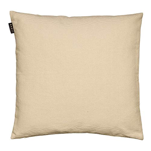 LINUM PEPPER Eleganter Kissenbezug für Dekokissen 40cm x 40cm, 100% Baumwolle, Maschinenwaschbar, Cremebeige