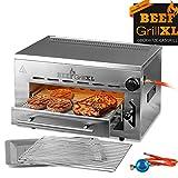 GOURMETmaxx Beef Maker XL | Oberhitze Gasgrill aus Edelstahl | 800° C | Hochleistungs Grill für Steaks wie vom Profi | Stufenlos regulierbarer Gas-Keramikbrenner | Piezozünder, 3 Höhenstufen