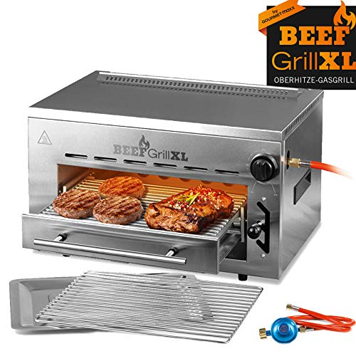GOURMETmaxx Beef Maker XL | Oberhitze Gasgrill aus Edelstahl | 800° C | Hochleistungs Grill für...