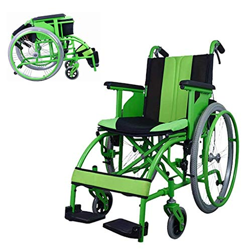 Wheelchair Self-propelled, Quick Fold Portable Manual With Pneumatic Tire Double Brake Disabled/Elderly Waiter,portable