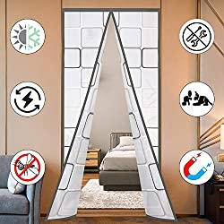 in budget affordable Insulated door curtains, thermomagnetic automatic closure EVA door walls Winter wind protection Prevents cold …