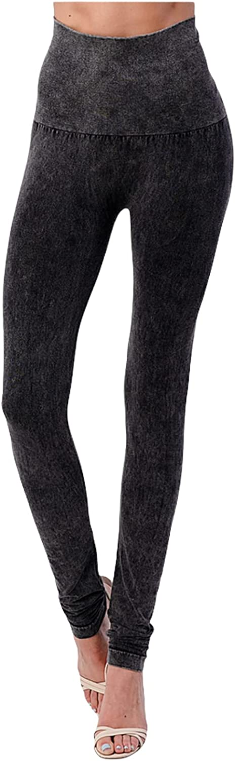 m. rena Women's High Waisted Design Fashion Casual Leggings One Size Fits Most B2361