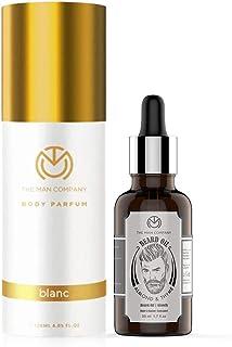 The Man Company Splendid Duo Almond Thyme Beard Oil, 30ml with Blanc Deodorant, 120 ml