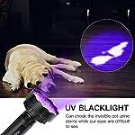 YOUTHINK Pet Urine Detector Light, 51 LED UV Black Light Flashlight Portable Dog Cat Urine Carpet Detector Super Bright UV Light, for Pet Stain, Minerals, Automotive Leak Detection 18