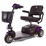 BUZZAROUND EX 3-Wheel Heavy Duty Long Range Travel Scooter (18-Inch Seat, Purple)