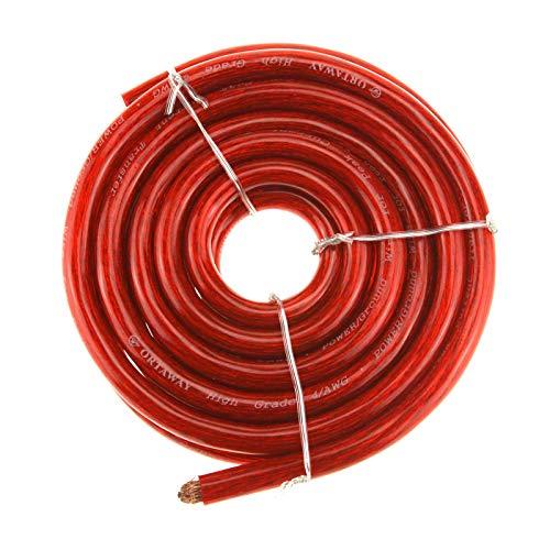 Create Idea - Cavo di avviamento a batteria rosso da 21 mm, 170 A, 5 m, cavo HI-FLEX in PVC compatibile con Auto