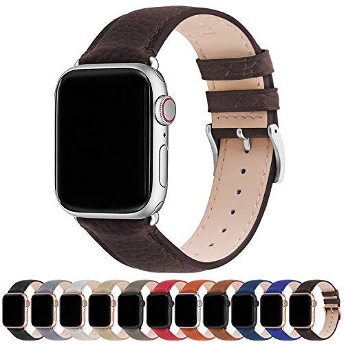 Correa para Apple Watch, Fullmosa Correa de Cuero Compatible con 38 mm 42 mm 40 mm 44 mm, Apple Watch Band para iWatch Series SE/6/5/4/3/2/1