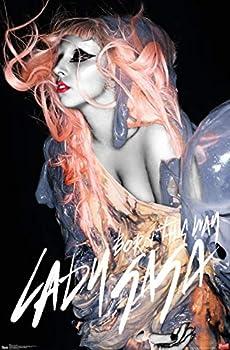 Trends International Lady Gaga Orange Hair Wall Poster 22.375  x 34
