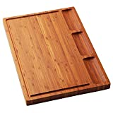 Large Bamboo Wood Cutting Board for Kitchen, Cheese Charcuterie Board...