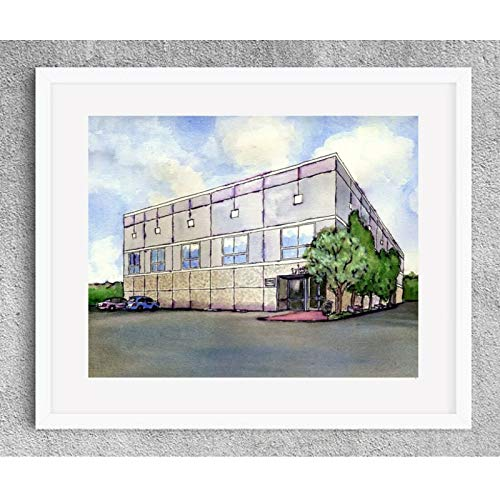 THE OFFICE TV SHOW PAM'S PAINTING WATERCOLOR WALL PRINT