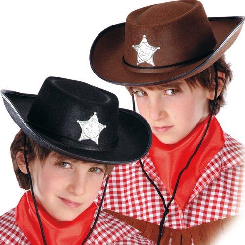 CARNIVAL TOYS S.R.L., B Boy Chapeau de Cowboy Brown