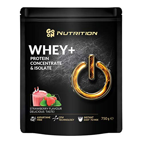 Strawberry Sante Go On Nutrition Whey Protein 750g Powder WPI WPC Whey Protein Concentrate Whey Protein Isolate Muscle Building