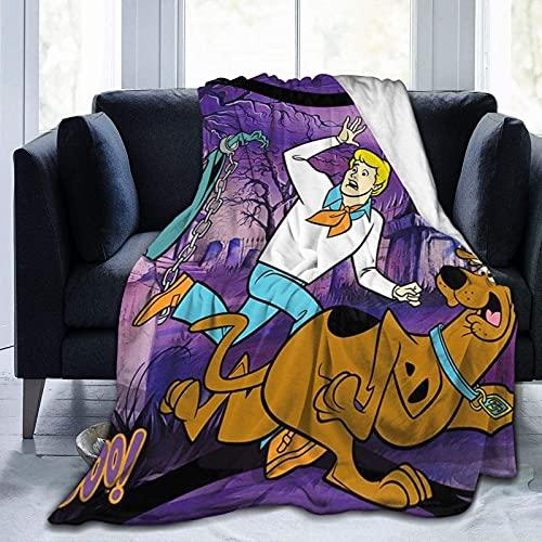 Scoo-by-Do-O - Coperta in microfibra morbida e calda, morbida e soffice, per divano, stampa digitale, 150 x 127 cm