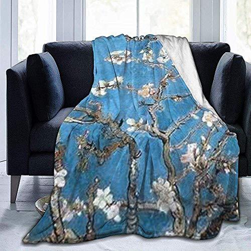 wobuzhidaoshamingzi deken van molton, ultrazacht, flanel met amandelbloesems