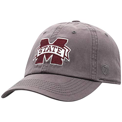 Top of the World Mississippi State Bulldogs Men's Hat Icon, Charcoal, Adjustable