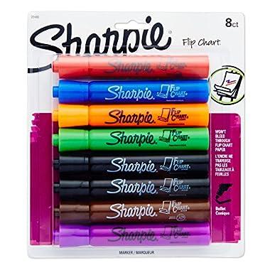 Sharpie 22480PP Flip Chart Markers, Bullet Tip, Assorted Colors, 8-Count