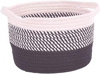Sango Trade Baumwolle runder Gro/ßer Lagerung Korb Spielzeug Organizer W/äscherei Hamper Kinderzimmer  Mint Navy Blue Zickzack