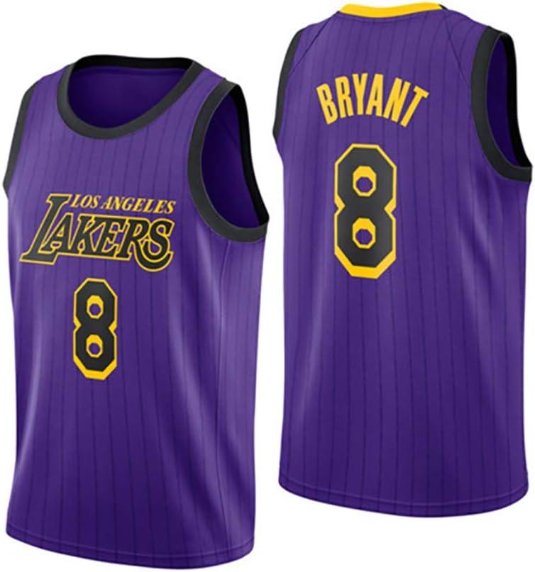 Los Angeles Lakers #8 Kobe Bryant Swingman Transpirable y Resistente al Desgaste Camiseta para Fan NBA WU Camiseta de Baloncesto para Hombre
