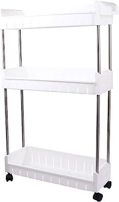 Cabilock Chariot de rangement à 3 niveaux pour cuisine, salle de bain, chambre à coucher
