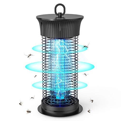 Sahara Sailor Lámpara Antimosquitos Eléctrico,12W UV LED Lámpara Mata Insectos Impermeable,1200V Alta Potencia,Alcance Efectivo de 90 m²,para Dormitorio, Salón, Patio, Cocina, Jardín
